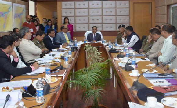 Additional Principal Secretary to PM, Dr. P.K Mishra attending a review meeting