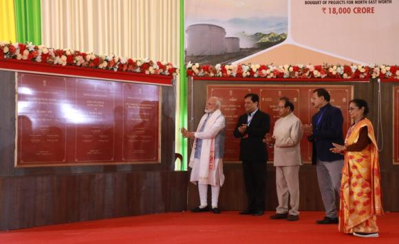 PM Narendra Modi laid foundation stone of Projects for North-East worth Rs.18,000 Crore